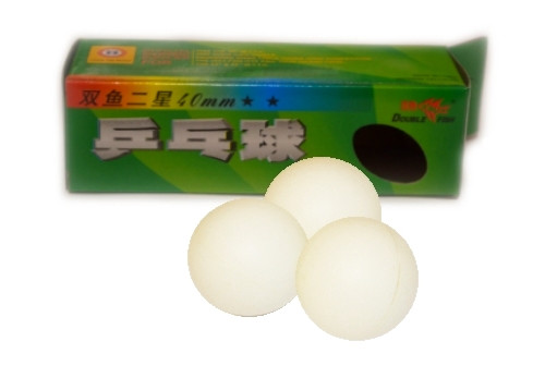 Шарики для настольного тенниса DOUBLE FISH, 3 шт. 2-STAR