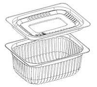 Пищевой одноразовый контейнер (крышка дно) 240 мл., GP-03