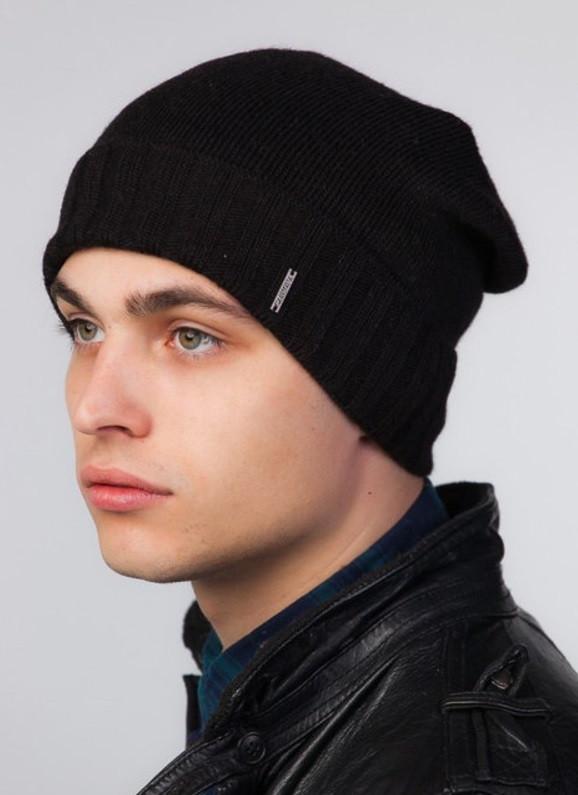 Мужская удлиненная шапка OSCAR 2 UniX черный