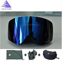 Горнолыжные / сноубордические очки (маска) VECTOR UV400 (Navy)