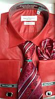 Рубашкаприталенная с галстуком под запонки