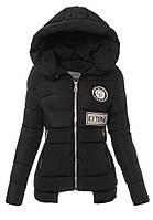 Женская зимняя куртка с нашивками