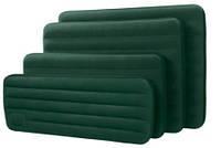 Кровать велюр 66950 (6шт) зелен.(встроен.механ.ножной насос),в кор.191*76*22см //