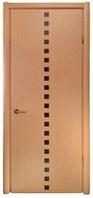 Двери межкомнатные глухие со вставками шпона
