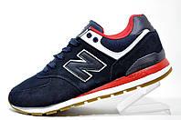 Мужские кроссовки New Balance 574, Dark Blue\Red