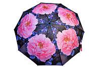Оригинальный женский зонт в крупные цветы