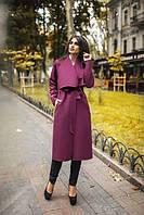"""Пальто женское кашемировое с пояском (5 цветов), размеры 42-48 Серии """"BONJOUR"""" купить оптом в Одессе на 7км"""