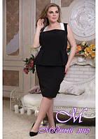 Черная женская блузка большого размера (р. 48-90) арт. Грань