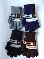 """Перчатки для мальчика от 4-6 лет  """"Корона"""" разные цвета 12 пар в упаковке"""