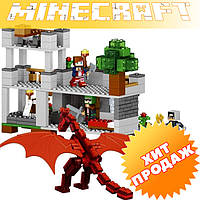 Конструктор лего майнкрафт LELE Minecraft 33027 Красный дракон, 468 дет.