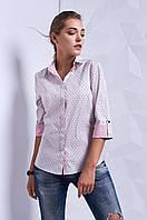 Классическая женская рубашка с геометрическим рисунком