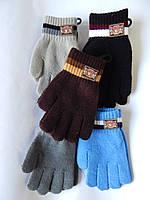 """Перчатки для мальчика от 8-12 лет  """"Корона"""" разные цвета 12 пар в упаковке"""