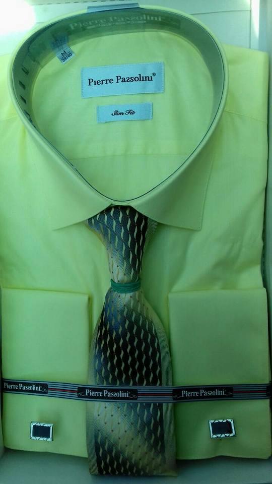 Сорочка з краваткою Pierre Pasolini під запонки