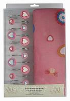 Шторы для ванны Arya 180x180 Pink Love, арт. 1352008