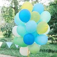 Композиция из 20 ярких шаров для мальчика