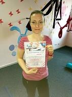 Виктория Шен получила сертификат инструктора по пилатесу в школе Олимпия