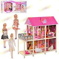 Дом Барби с мебелью и 3 куклами 66884