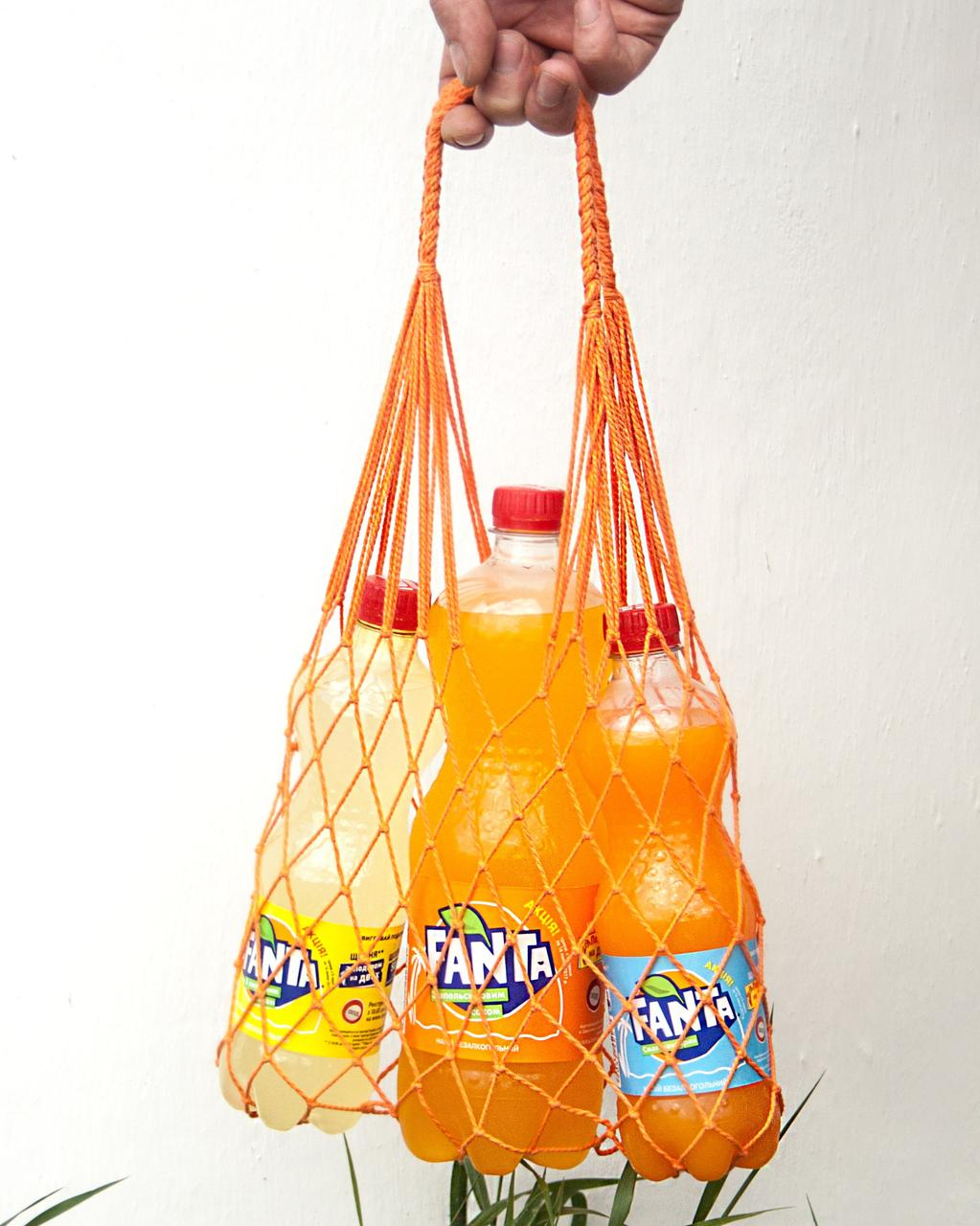 Авоська мини - оранжевая