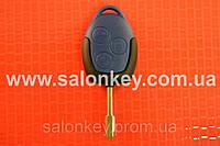 Ключ корпус Ford transit 3 кнопки синий лезвие FO21 с 2006г.