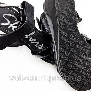 Черные босоножки на танкетке Skechers, размер 36, фото 2