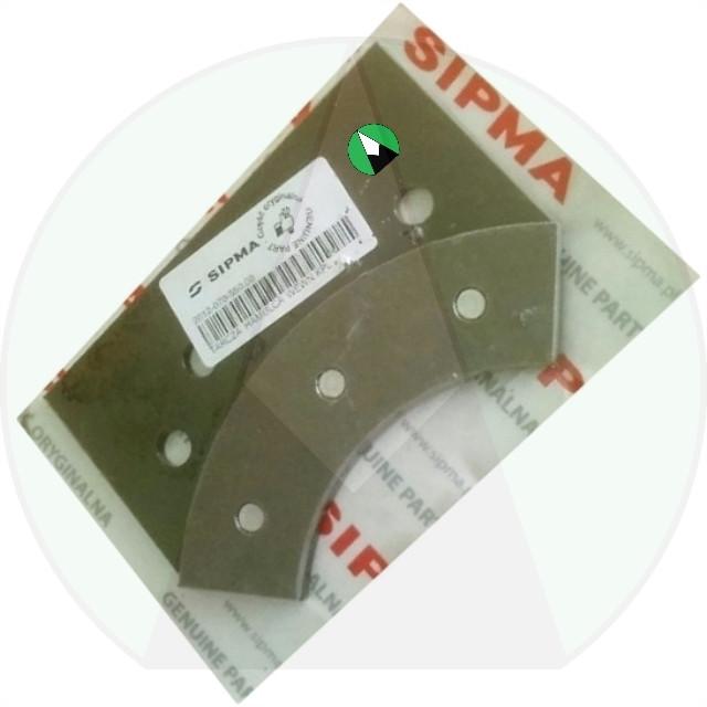 Пластина прижимная диска тормозного внутренняя ОРИГИНАЛ пресс подборщика Sipma Z-224/2 | 201207055000 SIPMA