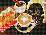 """Набор  алмазной мозаики 30х40см  """"Кофе"""" EF365"""