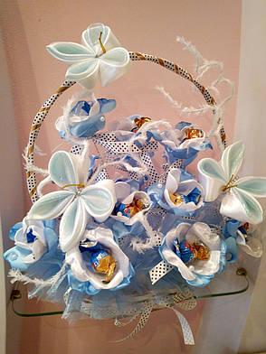 """Букет из конфет на подарок """"Голубой каприз"""", фото 2"""