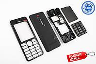 Корпус Nokia 206 Чёрный Премиум Качество Комплект, Полный Комплект, Заводское Качество