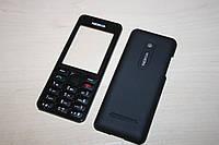 Корпус Nokia 206 Чёрный С Клавиатурой Латиница, Полный Комплект, Заводское Качество
