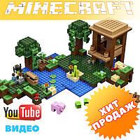 Конструктор лего майнкрафт Minecraft Lepin 18027 «Хижина Ведьмы», 500 дет