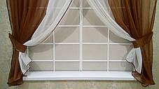 Комплект штор Кларис Коричневая, кухонные, фото 3