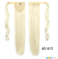 Купити Шиньйон Хвіст не дорого 60 см блонд, фото 1