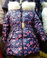Детская зимняя курточка для девочки Бантик