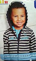 Батник с капюшоном для мальчика, Lupilu, размеры 86/92, арт. Л-561