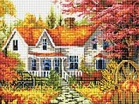 """Алмазная мозаика 30х40см """"Осенний пейзаж"""" EF261"""