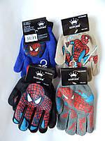 """Перчатки для мальчика """"Корона"""" 6-9 лет разные цвета 12 пар в упаковке"""