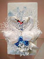 Поздравительная свадебная открытка Лебеди