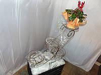 """Кованые подставки для цветов """"санки-каскад"""" на 4 вазона"""