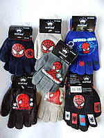 """Перчатки для мальчика """"Корона"""" 5-7 лет разные цвета 12 пар в упаковке"""