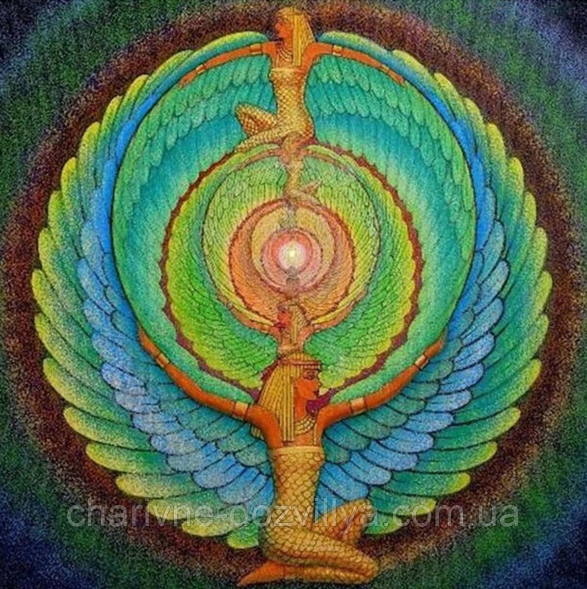 """Набор алмазной вышивки (мозаики) """"Мандала Исиды - символ женственности и материнства"""