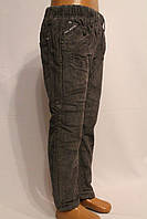 Вельветовые штаны для детей на флисе серого цвета от 3-8лет. (осень-зима-2017г).Good kids.Польша.