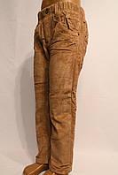 Детские вельветовые брюки бежевого цвета на флисе  от 3-8лет. (зима-2017г). Good kids. Польша.
