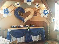 Украшение воздушними шарами свадьба кафе с. инженерное Пологи