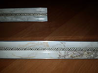 Карниз алюминиевый БПО-10 двухрядный (1,5 м), фото 1