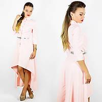 Персиковое платье 15381