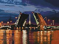 """Алмазная жывопись 30х40см """"Розводной мост"""" EF136"""
