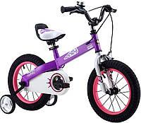 Детский велосипед 16 Royal Baby Honey Steel фиолетовый
