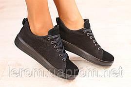 Стильные замшевые криперы на шнурках
