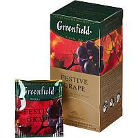 "Чай фруктовый в пакетиках   Greenfield ""Festive Grape"" 100шт Виноград"