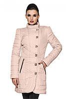 Розовая женская современная осенне-весенняя удлиненная куртка. Арт-2358/61